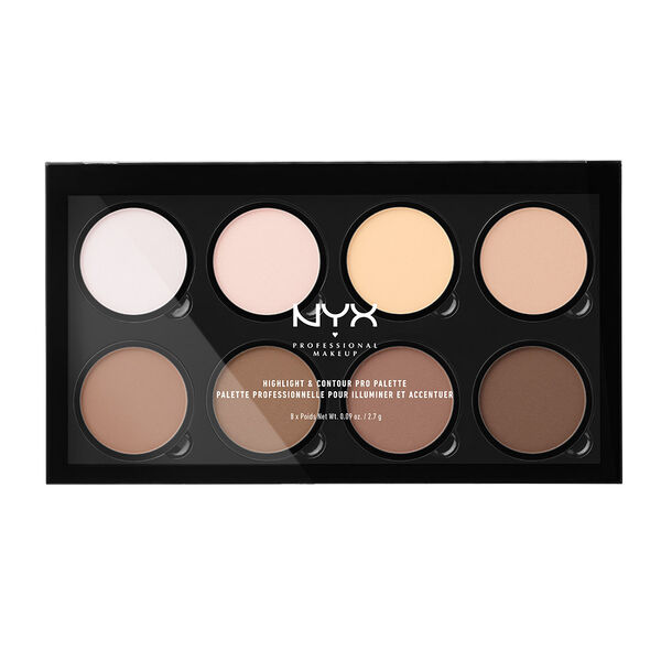 highlight contour pro palette nyx professional makeup. Black Bedroom Furniture Sets. Home Design Ideas